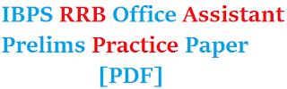 ibps rrb office assistant prelim model paper