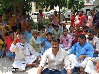 भाजपा कार्यकर्ता की गिरफ्तारी के विरोध में घंटो हुआ प्रदर्शन | #NayaSaberaNetwork