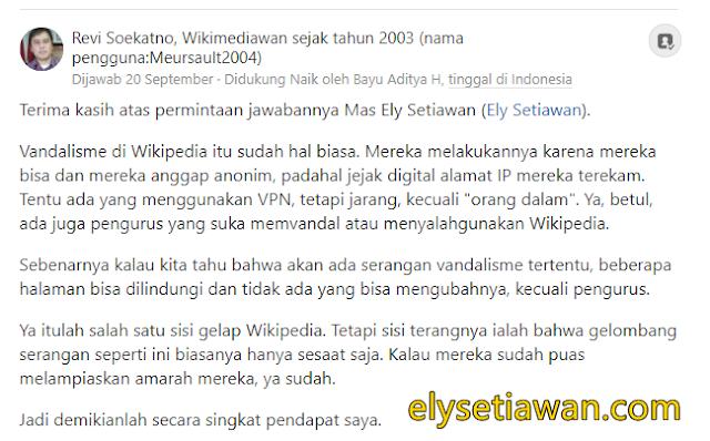 jawaban revi soekanto salahsatu pendiri wikipedia indonesia
