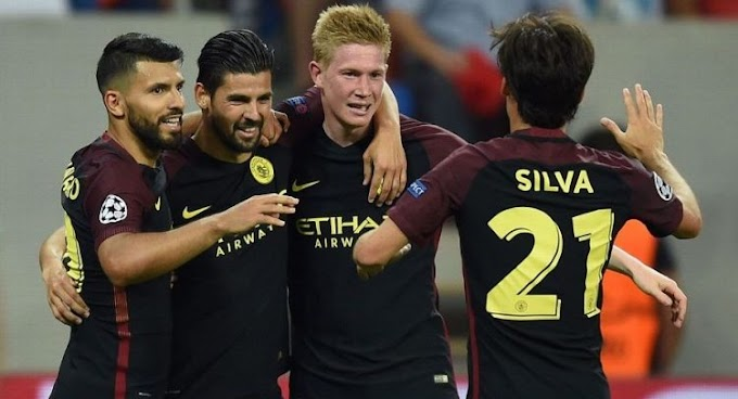 Aguero Treble As City Win 5-0 In Bucharest