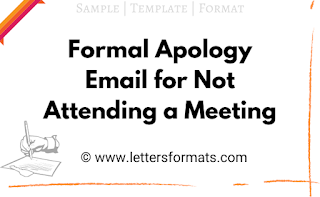 formal apology letter for not attending a meeting due to sickness