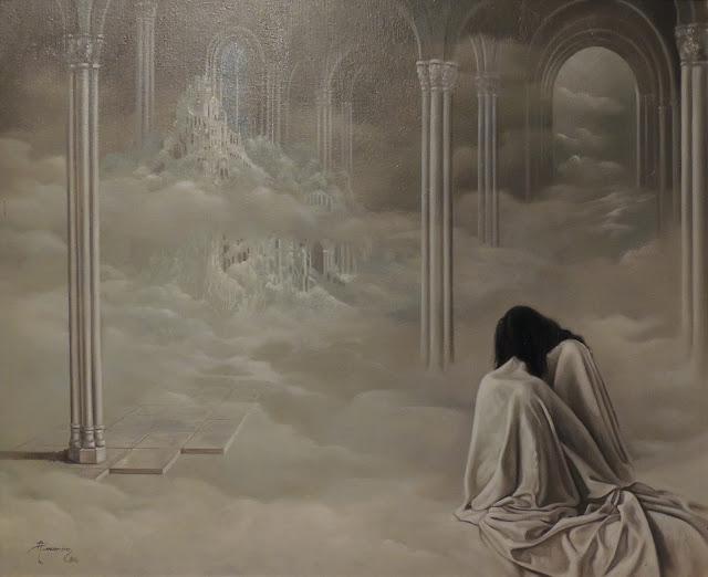 Alberto Pancorbo arte moderno hiperrealista surrealista soledad tristeza figura feminina