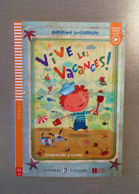 """Recenzje #188 - Vive les vacances !"""" - okładka książki - Francuski przy kawie"""