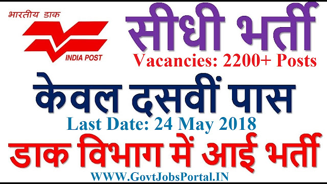 INDIA POST REQUIREMENT 2018