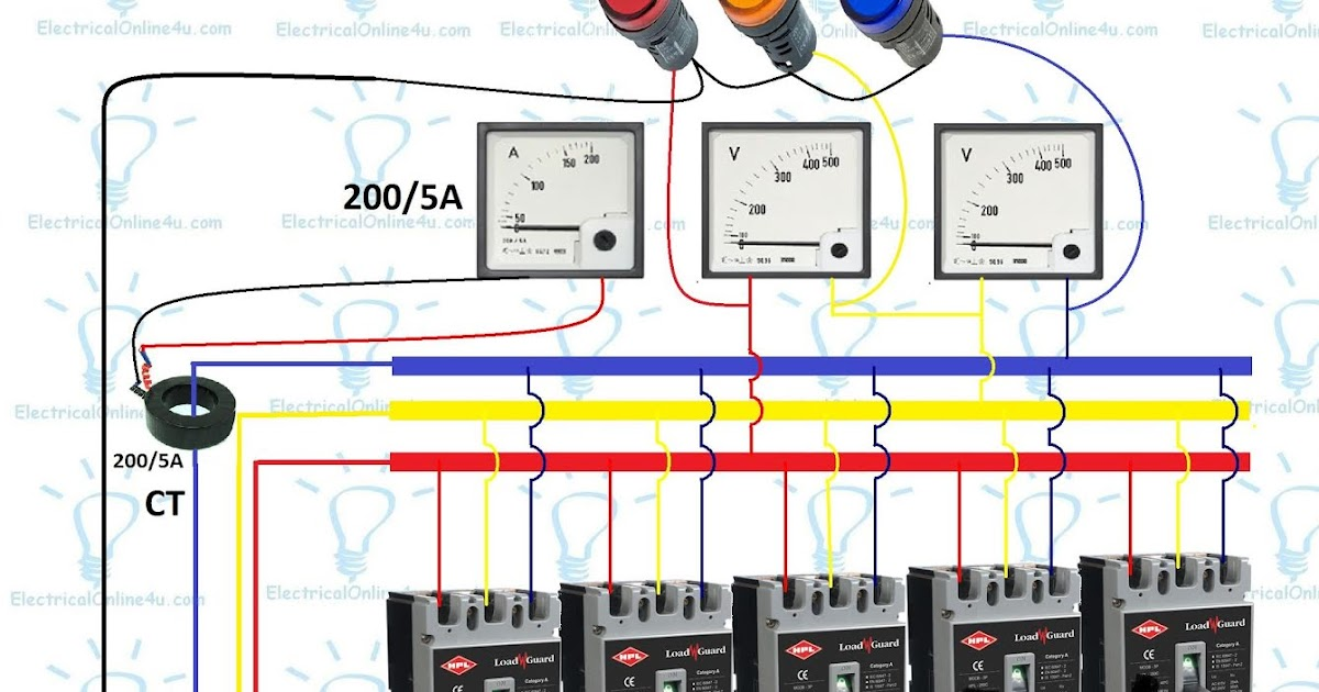 3 Phase Panel Board Wiring Diagram  Distribution Board  Electrical Online 4u