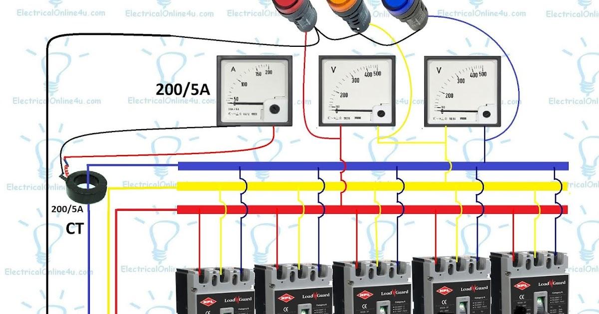 3 Phase Panel Board Wiring Diagram  Distribution Board  Electrical Online 4u
