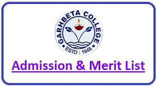 Garhbeta College Merit List