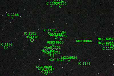 annotated image of Abell 2151 shot