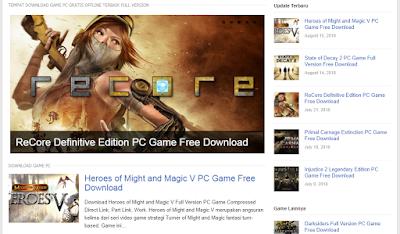 3 Situs tempat Download Game PC Gratis dan terlengkap