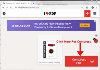 Click On Compress Pdf For Compression
