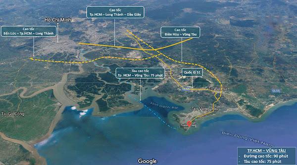 Bất động sản Hồ Tràm - Vũng Tàu phát triển mạnh mẽ trong tương lai nhờ hạ tầng giao thông phát triển