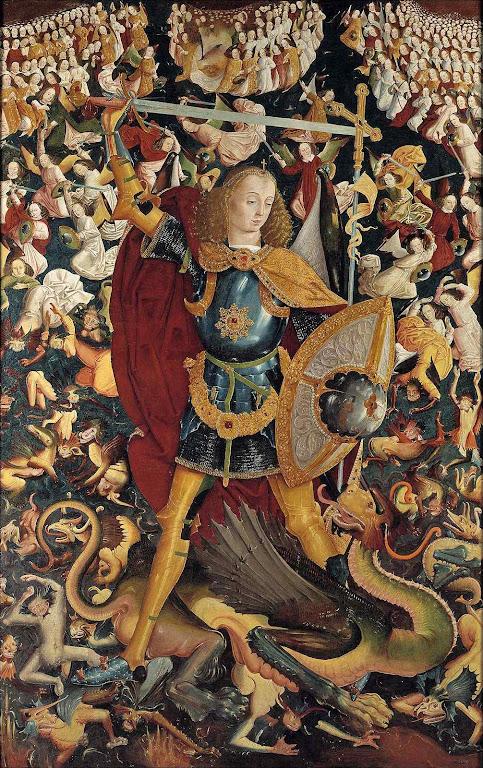 São Miguel Arcanjo, Mestre de Zafra (por volta de 1499-1500) , Madri, Museu del Prado
