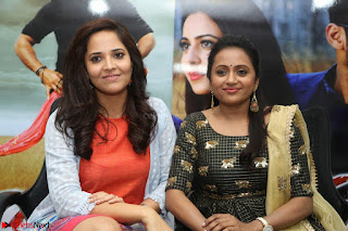 Actress Suma in Black Salwar Suit and Anusuya in orange Dress at winner movie press meet part 2 February 2017 (68).JPG