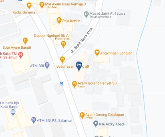 Map Letak Hotel Tibera Bandung