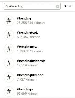 2 Cara Melihat Trending Topic Instagram Hari Ini / Hashtag