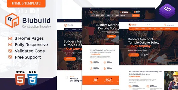 Best Industrial Construction HTML Template