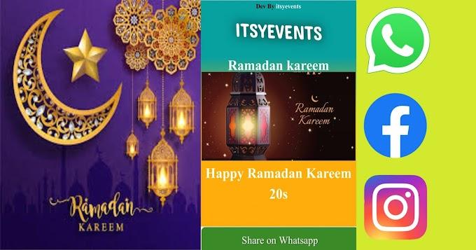 Wish Ramadan Kareem through WhatsApp.