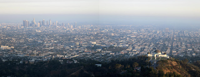 Southern panorama as seen from Mt. Hollywood, Griffith Park, Los Angeles, June 22, 2016