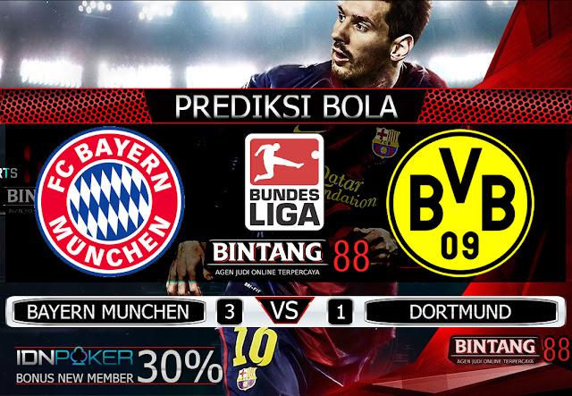 PREDIKSI BOLA - Pada hari Minggu, 10 November 2019 pukul 00:30 waktu indonesia barat akan di adakan laga pertandingan Liga Bundesliga antara Bayern Munchen vs Borussia Dortmund . Pertandingan ini nantinya akan di laksanakan di Stadion Allianz Arena.