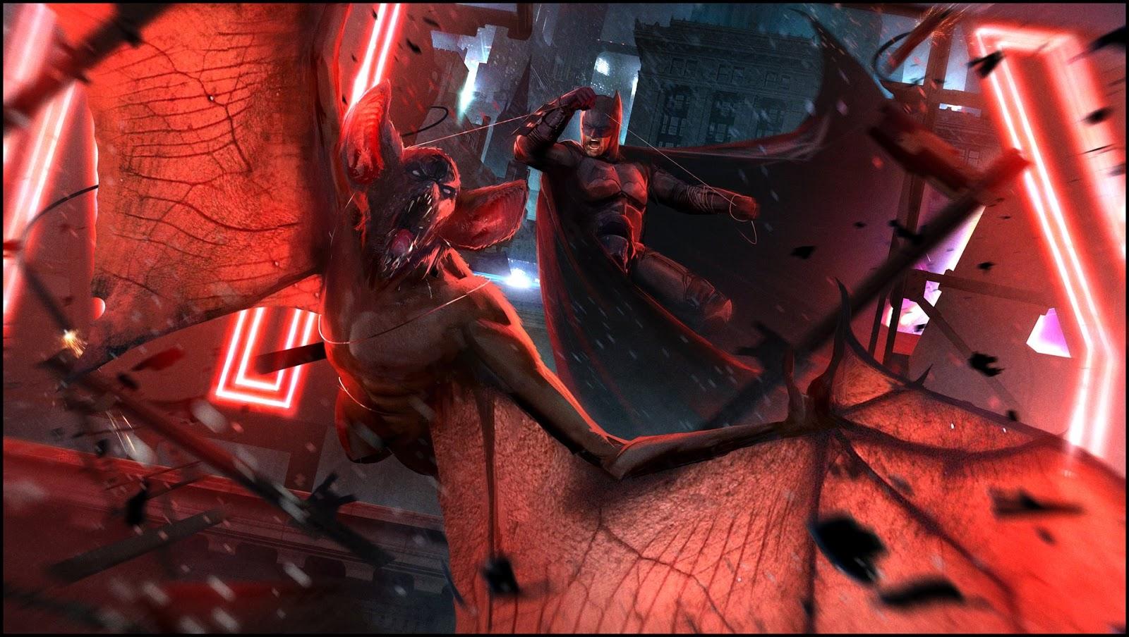 Batman vs Man Bat wallpaper in 1920x1080 pixels dc