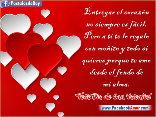 Frases De Amor Para San Valentin Con Imagenes Bonitas De: Tarjetas Con Frases Para San Valentin