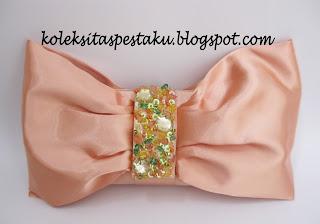 Handmade Tas Pesta Oren Muda Cantik Elegant