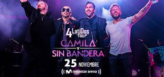 Concierto de CAMILA Y SIN BANDERA en Bogotá