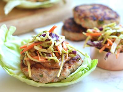 Thai Turkey Burgers #healthy #lowcarb