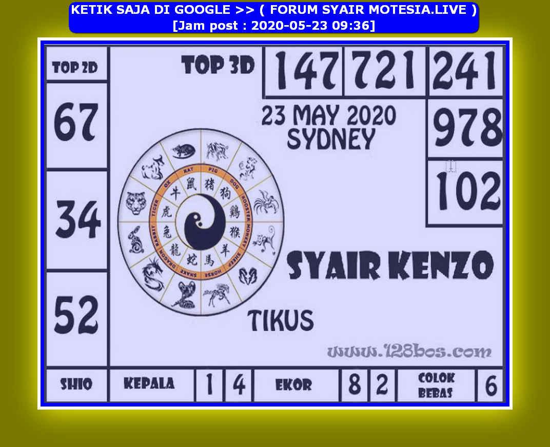 Kode syair Sydney Sabtu 23 Mei 2020 192
