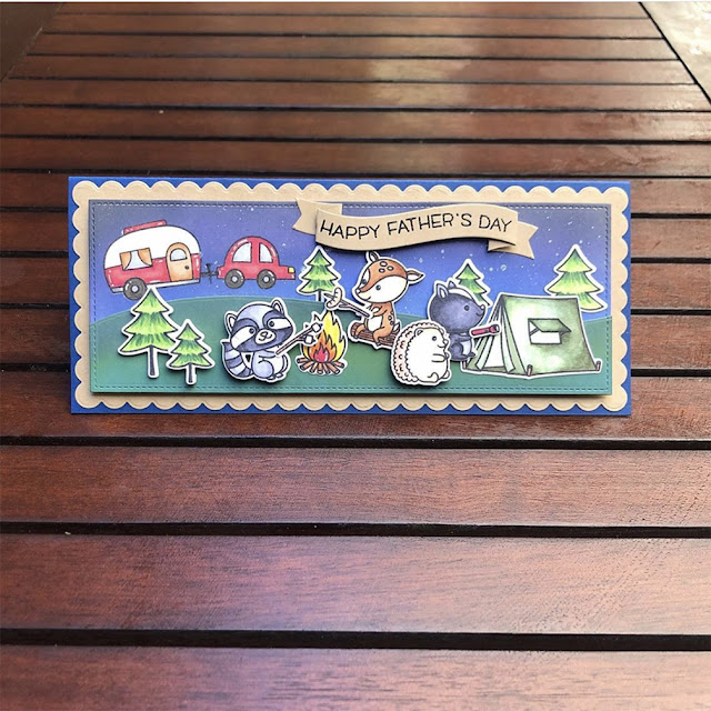 Sunny Studio Stamps: Critter Campout Customer Card by Kasey Crafty