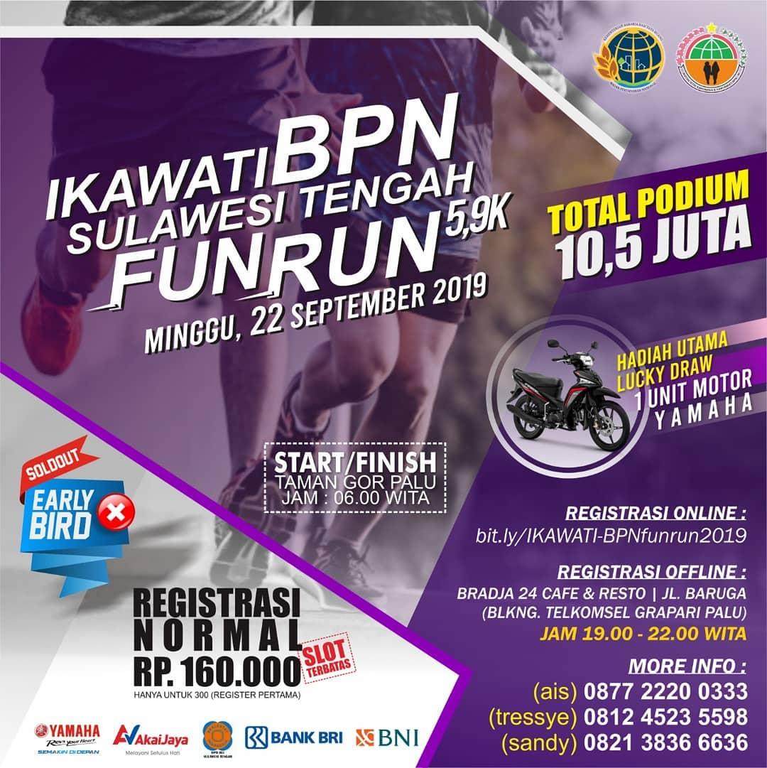 Ikawati BPN Sulteng Fun Run • 2019