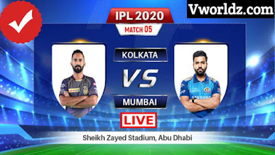Watch KKR vs MI Live Match, IPL 2020 Live MI vs KKR, KKR vs MI Live IPL 2020