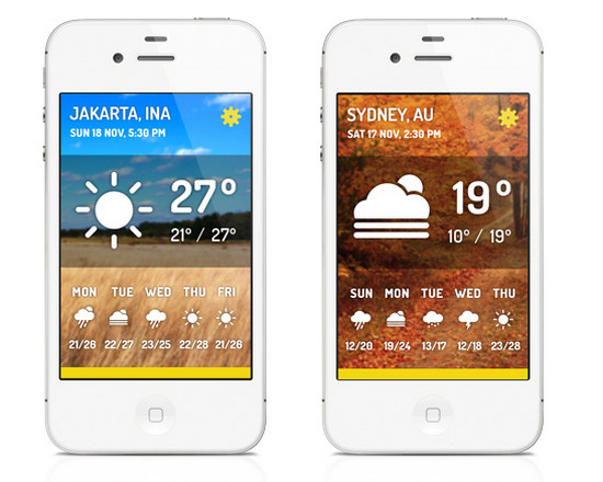 Beautifully Designed Weather Mobile Apps