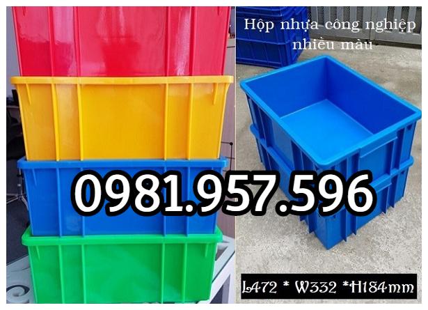 Hộp nhựa công nghiệp, sóng nhựa bít B3, sóng nhựa đặc B3
