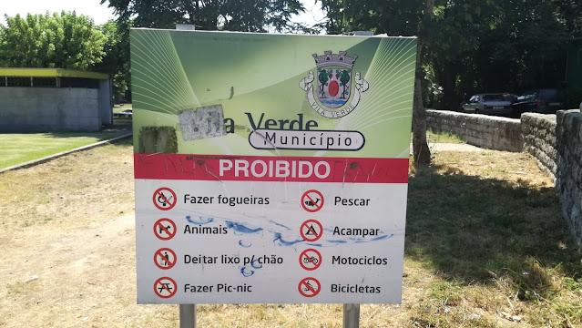 Proibições da Praia Fluvial do Faial