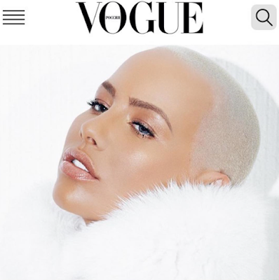 Amber Rose features on Vogue Russia