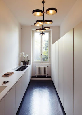 Minimalist narrow kitchen design ideas