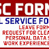 CSC Forms ( CS Form 6, CS Form 212, CS Form 211, CS Form 100, Work Experience Sheet, Request for Clearance)
