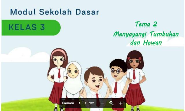 Modul Belajar dari Rumah untuk Kelas 3 Tema 2