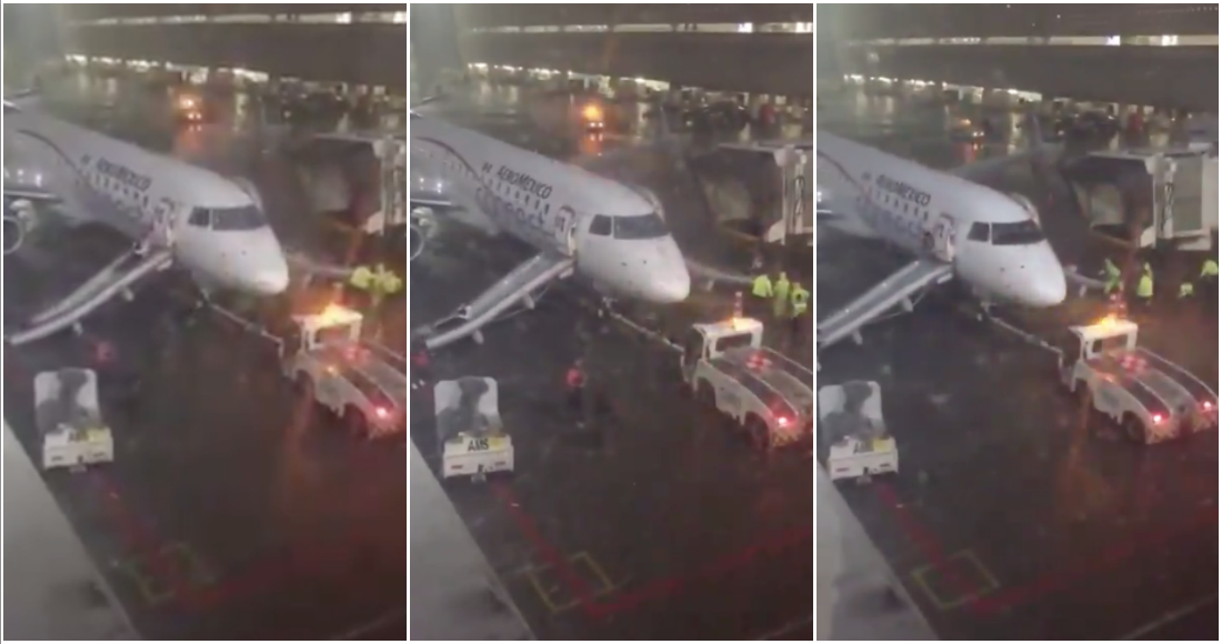VIDEO: Pasajeros son evacuados de emergencia por incendio en vuelo de Aeroméxico.
