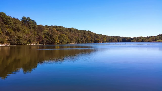 Crystal Lake in Decatur, AR. Great public fishing spot!