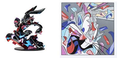 "Bugs Bunny ""A Wild Hare – 2"" Vinyl Sculpture & Print by Louis De Guzman x Looney Tunes x NTWRK"