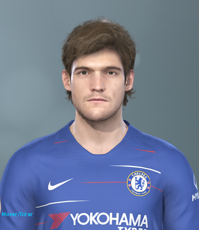 PES 2019 Marcos Alonso hair color correction by Hugimen
