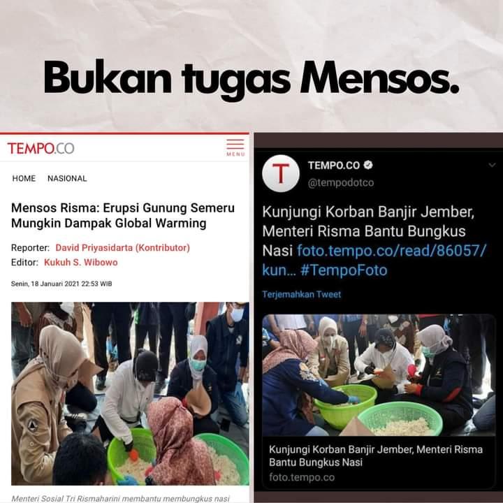 Mensos Komentari Erupsi Semeru dan Ikut Bungkus Nasi, HNW: Bukan Tugasnya