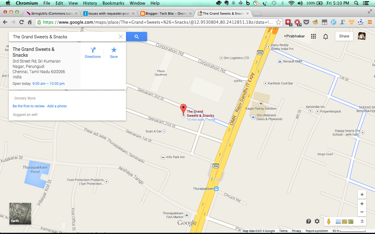 find my current location on google earth