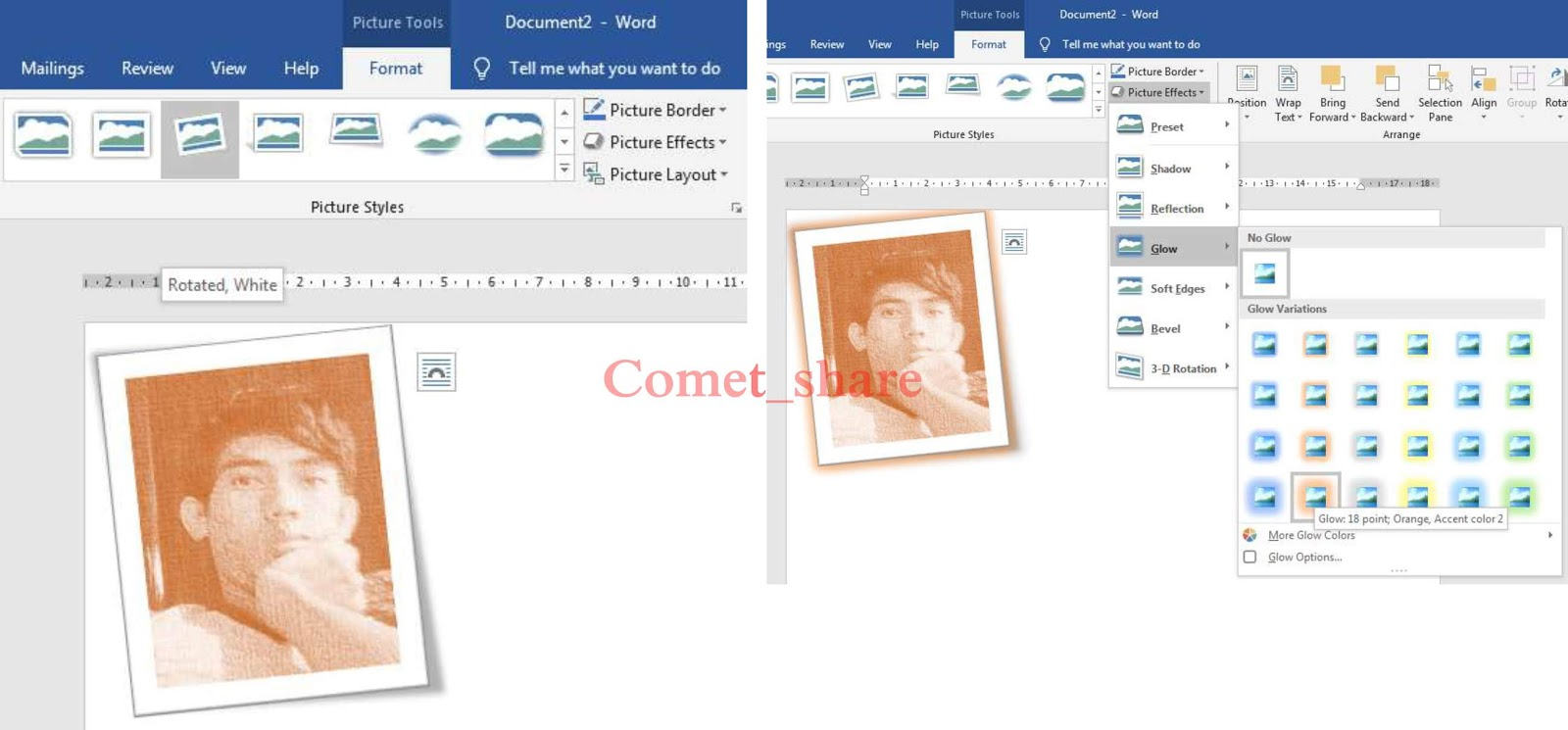 Cara Mudah Edit Foto Di Ms.Word - COMET_SHARE