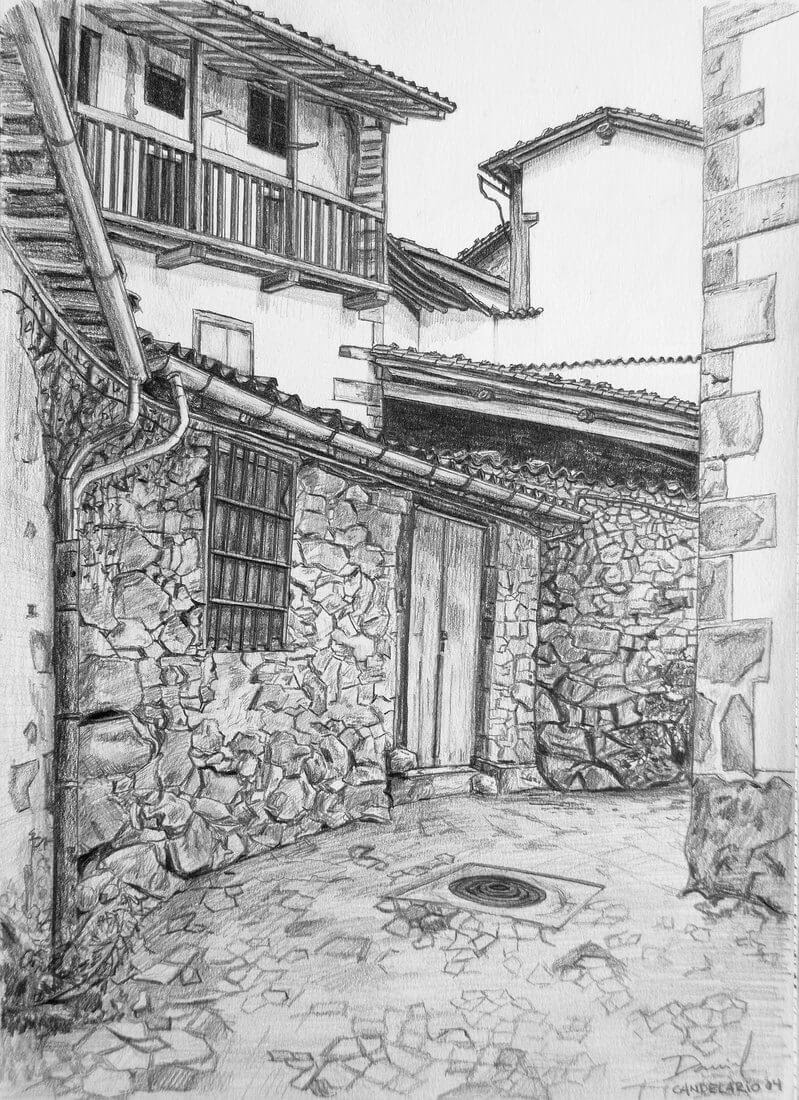 04-Calle-de-Candelario-2-Daniel-Formigo-Pencil-Urban-Architectural-Drawings-www-designstack-co