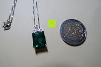 Vergleich Münze: Jewelrypalace 6.5ct Grün Synthetisch Nano Russisch Smargd Anhänger Halskette Kette 925 Sterling Silber Damen