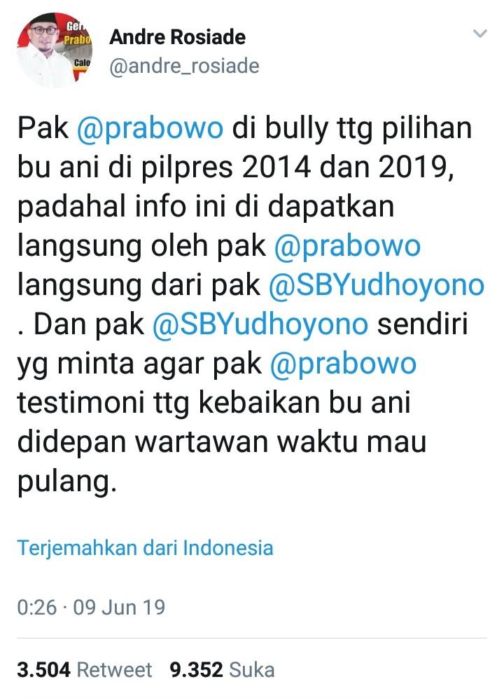 3 Fakta Mencengangkan Pernyataan Prabowo yang Diprotes SBY
