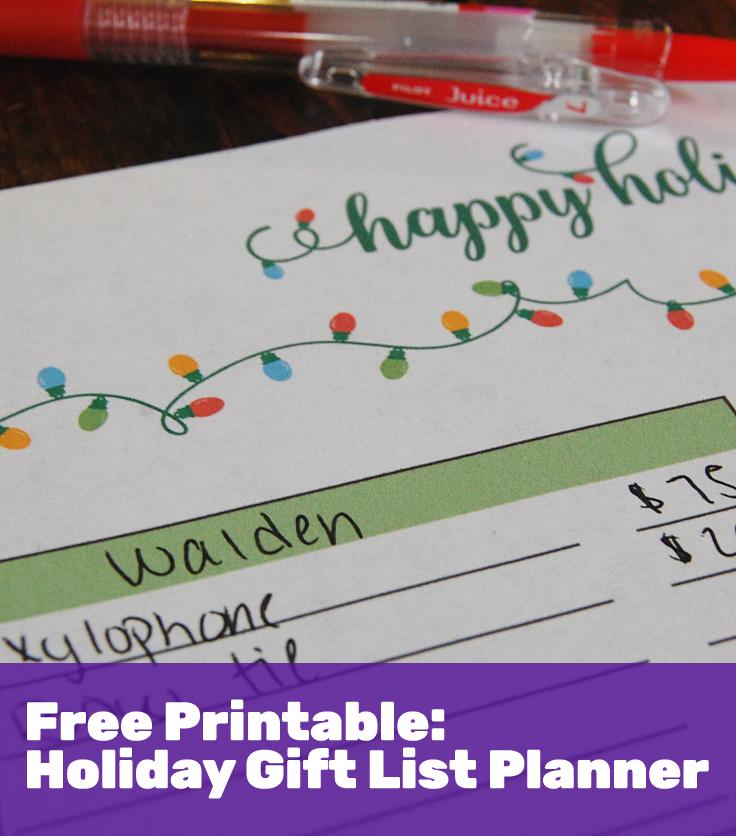 freebie gift list planner printable this gal knows
